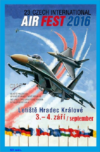 23th Czech international Airfest - Hradec Kralove september 2016  DVD-CIAF