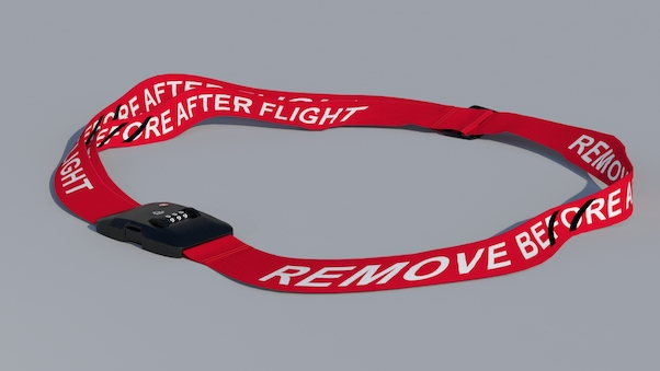 Luggage strap with TSA lock - Remove after flight  LUG-RBF