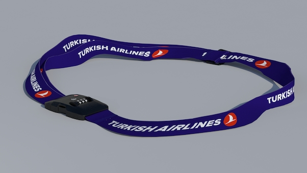 Luggage strap with TSA lock - Turkish Airlines  LUG-THY