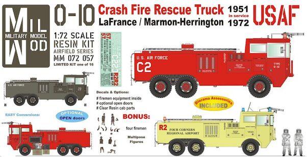 O-10 Crash Truck USAF w. Figures & inside Equipment  MM072-057