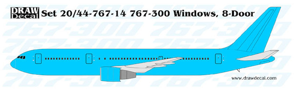 Boeing 767-300 windows and 8 door version  10-767-14