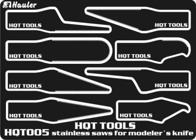 Stainless Saw for modellers knives (8)  HQT005