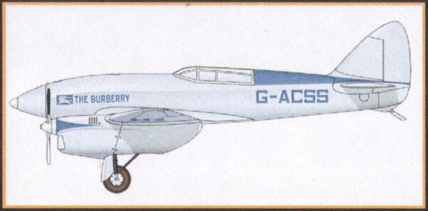 DH88 Comet racer G-ACSS 'The Burberry