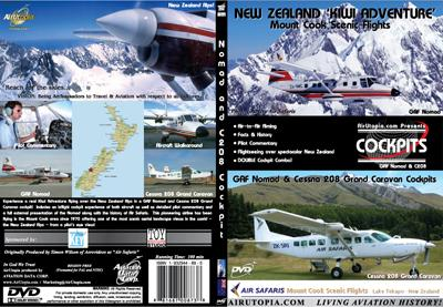 New Zealand 'Kiwi Adventure' : Mount Cook Scenic Flights - GAF Nomad & Cessna 208 Grand Caravan Cockpits  0881687008738