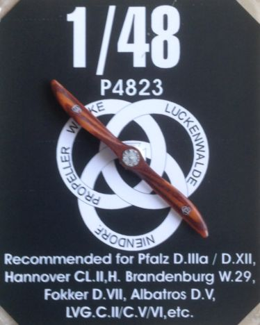 Hand made wooden prop Luckenwalde-Niedorf for Albatros DV, Fokker DVII, Hansa W29, LVG C, Pfalz DIIa/DXII, Hannover CLII  LFP4823