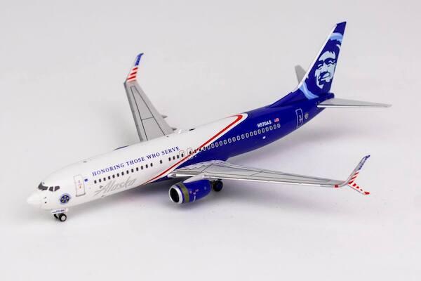 Boeing 737 800 W Alaska Airlines N570as Honoring Those Who Serve