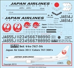 Boeing 767-300ER (Japan Airlines Latest Colours)  44-767-54