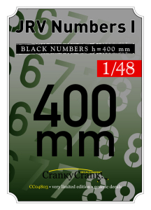 JRV Black Numbers 400mm  CC4803