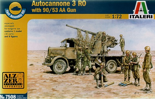 Autocannone 3RO with 90mm 53 AA gun and crew  7508