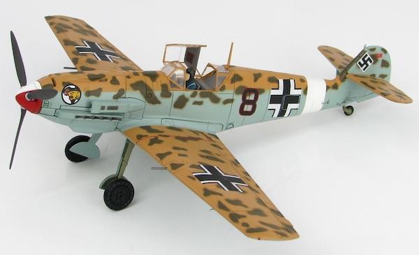 Messerschmitt Bf109E-7/Trop (Luftwaffe, Black 8, 2 /JG 27, April 1941)  (Hobbymaster HA8703)