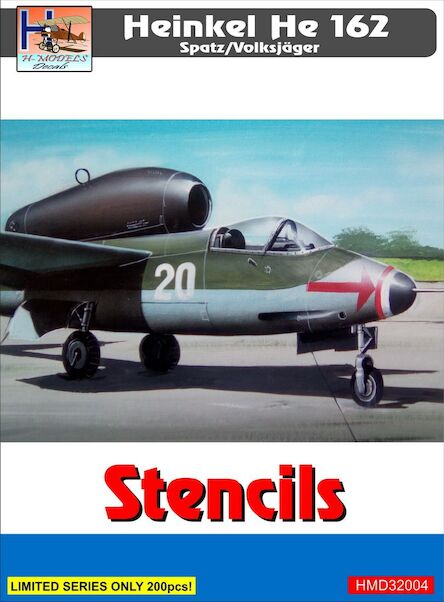 Heinkel He162 Stencils (set for 3 a/c)  HMD32004