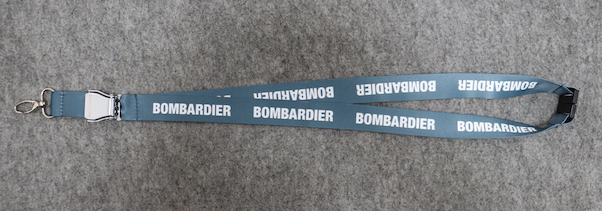 Lanyard with BOMBARDIER titles as 'mini-airlinebelt'  LAN-BOMBAR