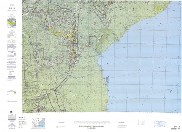 ONC P-5: Available: Operational Navigation Chart for Zimbabwe, Mozambique, South Africa. Available ! additional charts available within five working days. E-mail your requirements.  ONC P-5
