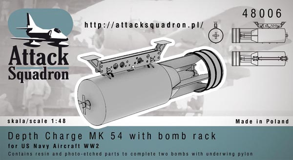 Depth Charge MK54 wirth Bomb rack  AS48006