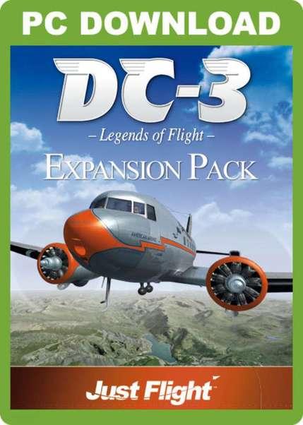 DC-3 Legends of Flight Expansion Pack (download version FSX) (Just Flight  J3F000035-D)