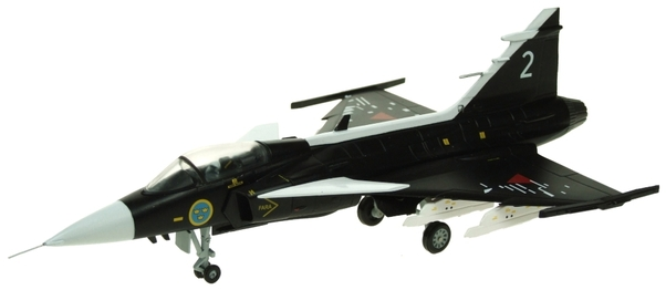 Saab JAS39 Gripen Swedish Air Force, Museum Black, 2  AV7243004
