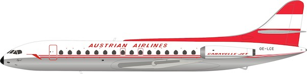 Caravelle SE210 Austrian Airlines OE-LCE With Stand  IF210OE0919P