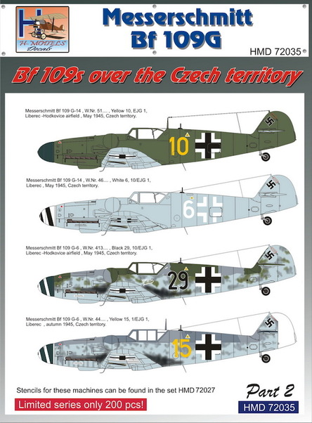 Messerschmitt BF109G - BF109's over the Czech territory part 2  HMD72035
