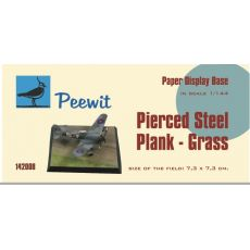 Paper display base 7,3x7,3 cm (Pierced Steel plates - Grass (PSP)  M142008