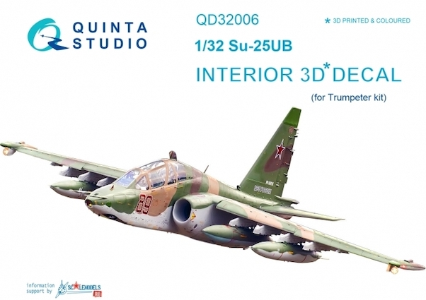Sukhoi Su25UB Frogfoot  Interior 3D Decal  for Trumpeter  QD32006