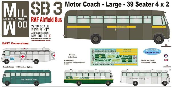 Bedford SB3, 39 seater coach - pre production  MM000-101