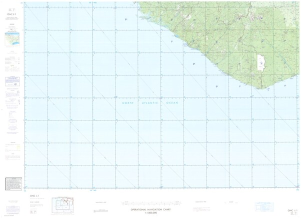 ONC L-1: Available: Operational Navigation Chart for Sierra Leone, Liberia, Ivory Coast. Available ! additional charts available within five working days. E-mail your requirements.  ONC L-1
