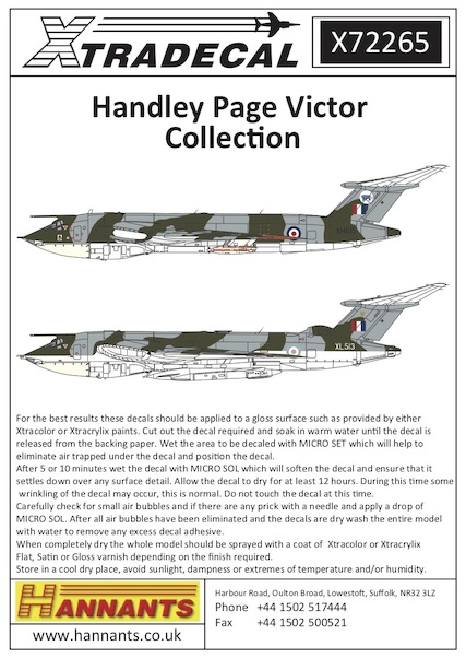 Handley Page Victor Collection  X72265