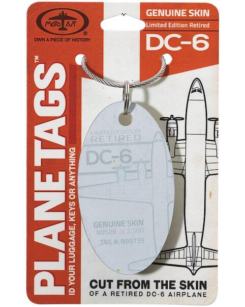 Keychain made of real aircraft skin: DC-6 N90739  DC-6 N90739