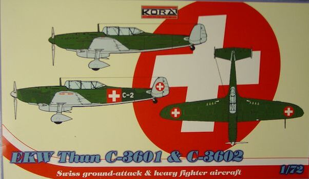 EFW Thun C3601 and C3602 Swiss heavy fighter  72125
