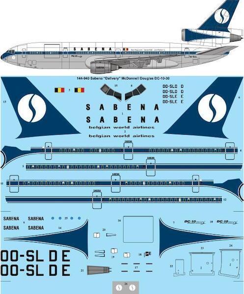Mc Donnell Douglas DC10-30 (Sabena - Delivery Scheme)  144-940