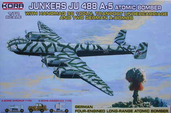 Junkers Ju-488A-5 atomic bomber with two German A-bombs  K72230
