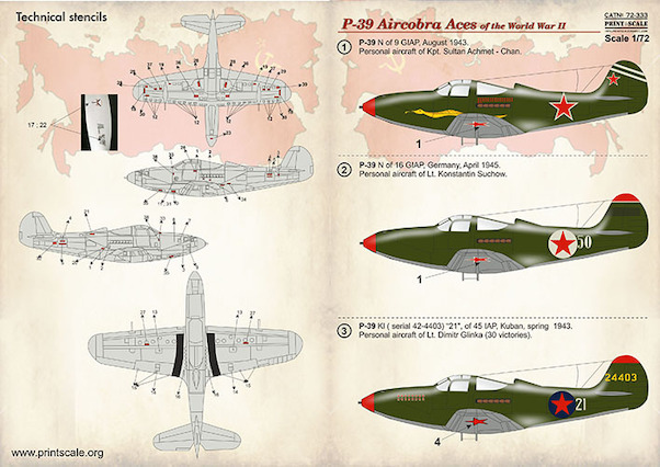 P39 Airacobra Aces of WW2  PRS72-333