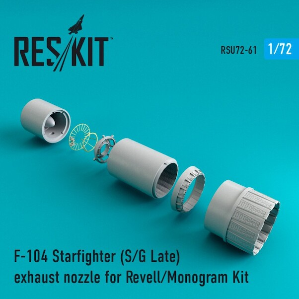 Lockheed  F104S/G Late Exhaust Nozzles upgrade set (Revell)  RSU72-0061