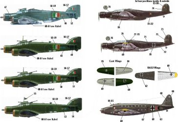 ANR Italian Luftwaffe Fighters, Bombers & Transports  IK72003