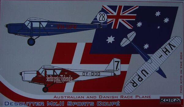 Desoutter Mk. II Sports Coupé Australian and Danish race plane (2 kits included)  72170