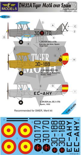 DH82a Tiger Moth over Spain  c48145