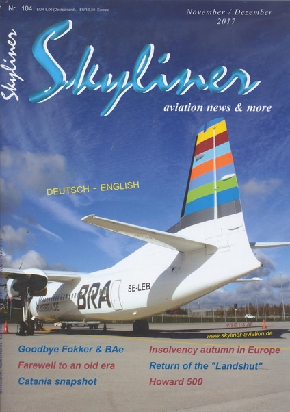 Skyliner, Aviation News & More Nr. 104 november/dezember 2017  SKYLINER 104