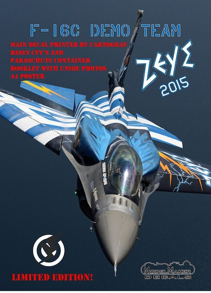 F16C Block 52 Fighting Falcon Greek  ZEUS Demo Team decal + Resin parts for Revell  MMD-72120