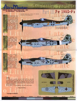 Too Little Too Late part III: FW190D-9  AMD72-205