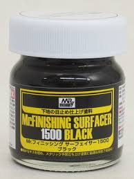 Mr Finisher 1500 brush on Black (40ml Glass)  SF288