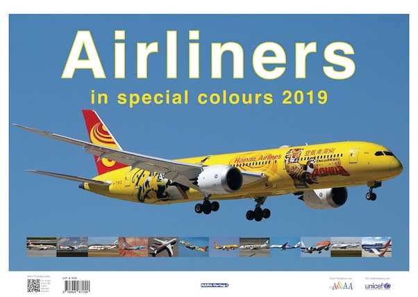 Airliners in Special Colours 2019 Calender  97892567167..