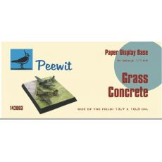 Paper display base 10,3x10,3 cm (Grass-Concrete)  M142003