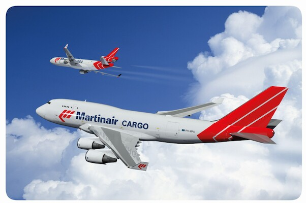 Martinair Cargo Boeing 747-400 PH-MPS McDonnell Douglas MD-11 PH-MCW - metal poster metal sign  AV0043