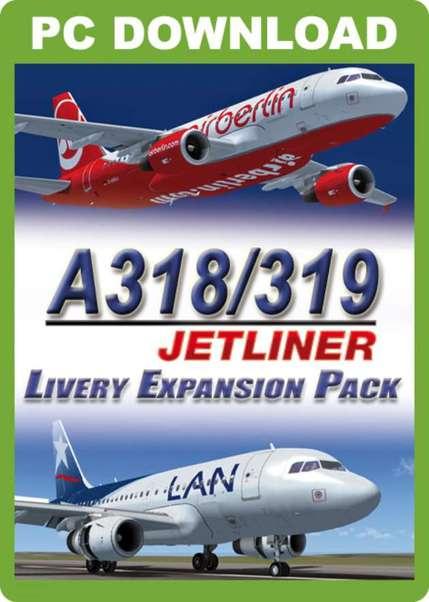 A318/A319 Jetliner Livery Expansion Pack (download version FSX) (Just  Flight J3F000038-D)