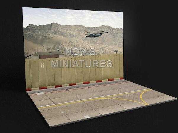 Airbase Tarmac sheet IDF/AF Airbase set V1 with concrete wall  144191