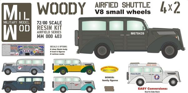 Ford Woody V8 - Airfield shuttle Van (RAF, Aer Turas, Skyways, BEA, American Airlines) 'small wheels  MM000-403