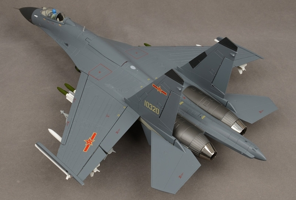 J-11B fighter jet model Chinese Air Force (Air Force 1 AF1-0125)