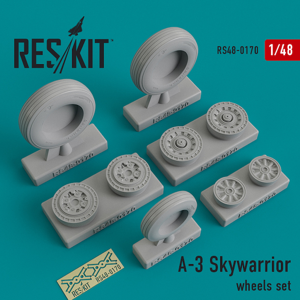 Douglas A3 Skywarrior Wheel set  RS48-0170