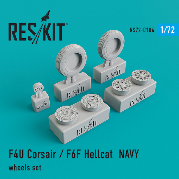 F4U Corsair / F6F Hellcat Sea based wheel set  RS72-0106