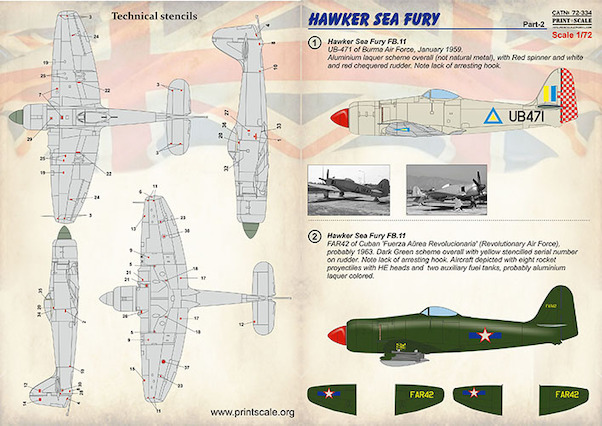 Hawker Sea Fury (Burma, Cuba, Iraq, Pakistan AF, Dutch navy, Australian Civil)  PRS72-334